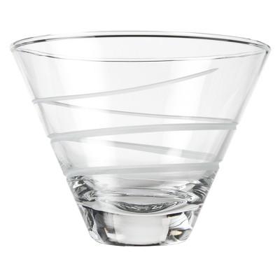 Rolf Glass Spiral Stemless Martini Glass Set of 4 - 12 oz