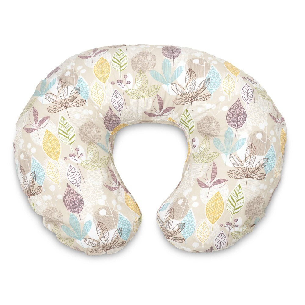 Boppy Slipcovered Nursing Pillow Colorful Leaves, Multi-Colored