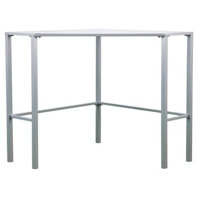 Genial Keylon Metal/Glass Corner Desk