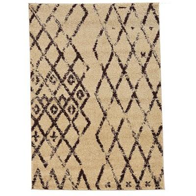 5'x7' Moroccan Shag Area Rug Mekenes Camel/Brown - Linon