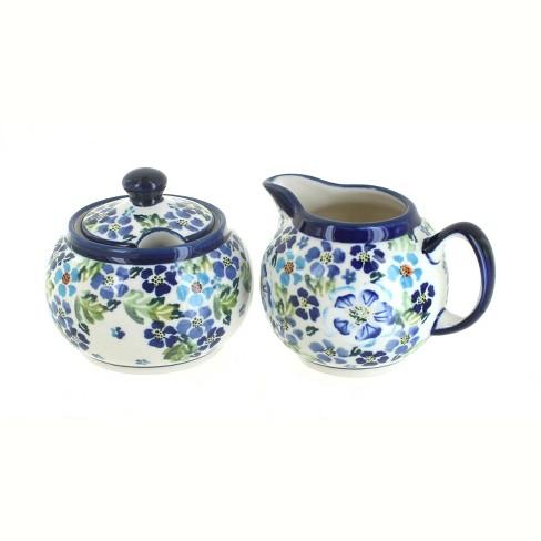 Blue Rose Polish Pottery Vintage Violet Sugar & Creamer Set - image 1 of 1