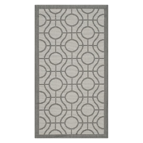 Simeon Outdoor Rug - Light Gray / Anthracite - Safavieh® - image 1 of 1