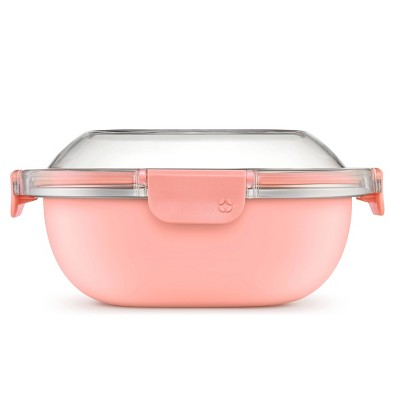 Ello 5 Cup Stainless Steel Lunch Bowl - Peach