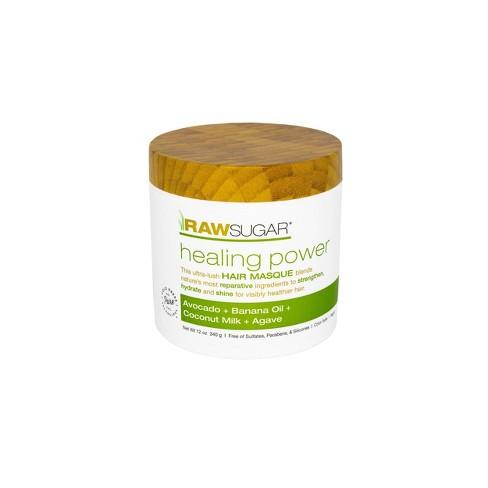 Raw Sugar Healing Power Hair Masque Avocado Oil + Banana + Coconut Milk + Agave - 12oz - image 1 of 4