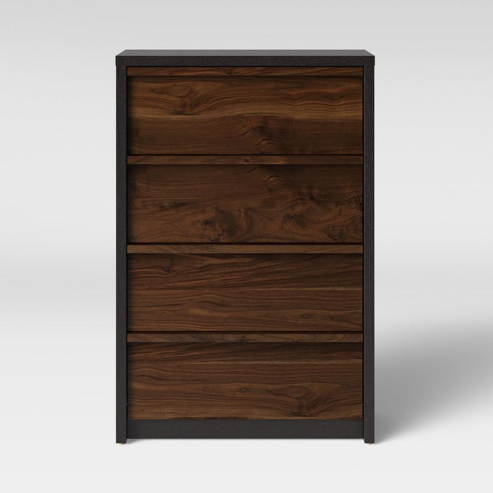 Gruen Two Tone 4 Drawer Dresser Grand Walnut Brown - Project 62