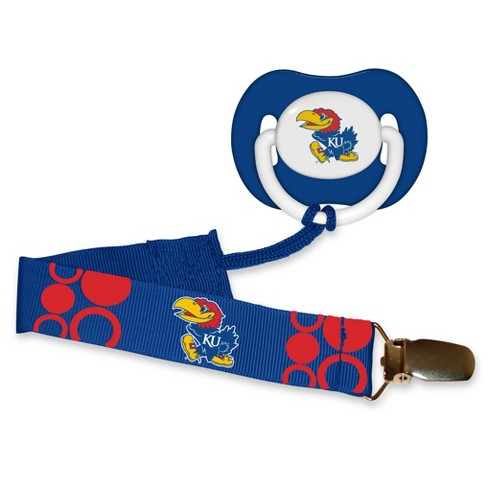 Kansas Jayhawks Pacifier with Clip - image 1 of 1