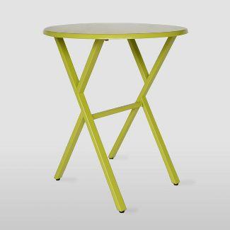Taro Iron Patio Bistro Table Matte Lime Green - Christopher Knight Home