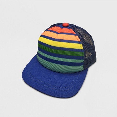 0b6b0878356 Baby Boys  Stripped Baseball Hats - Cat   Jack™ Blue 12-24M   Target