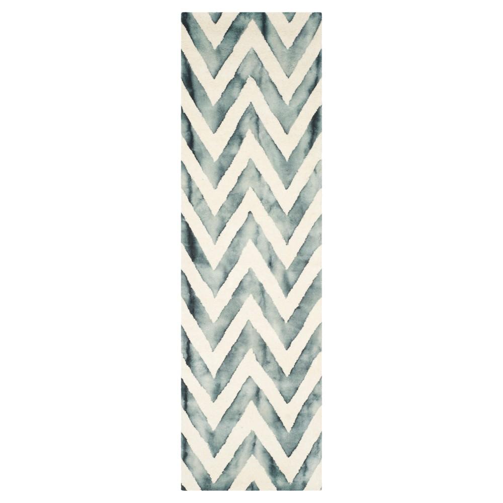 Dip Dye Design Runner Ivory/Gray
