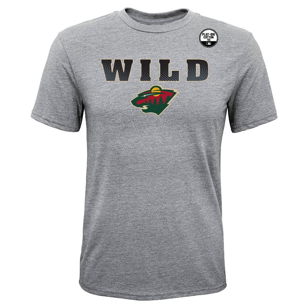Minnesota Wild Boys' Shootout Gray Athleisure T-Shirt - M, Multicolored