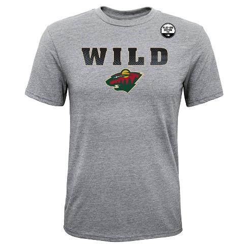 448ba923e NHL Minnesota Wild Boys  Shootout Gray Athleisure T-Shirt   Target
