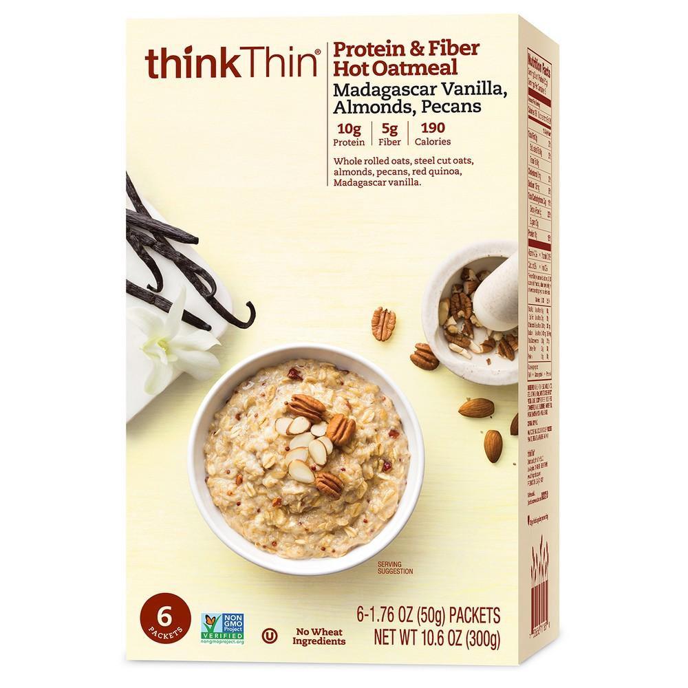thinkThin Madagascar Vanilla, Almonds, Pecans Protein & Fiber Hot Oatmeal - 10.6oz