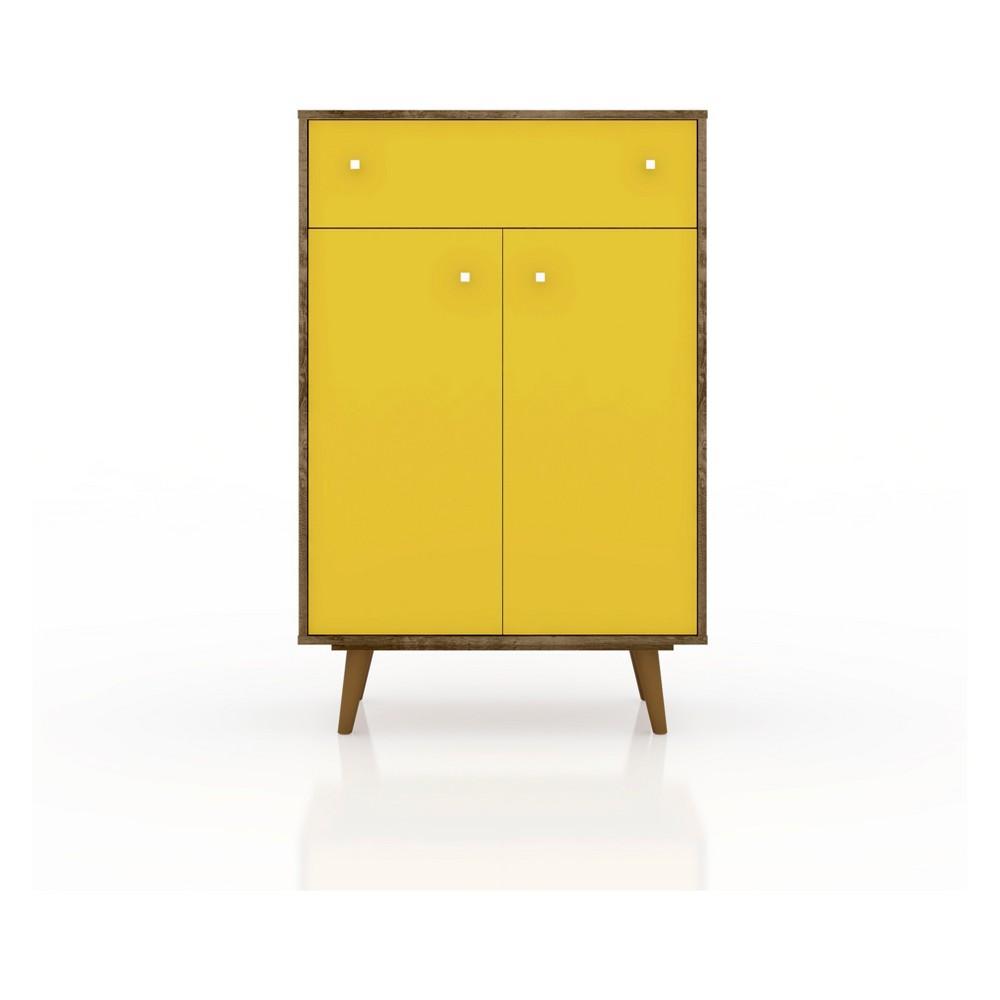 28.07 Liberty Storage Cabinet Black - Manhattan Comfort
