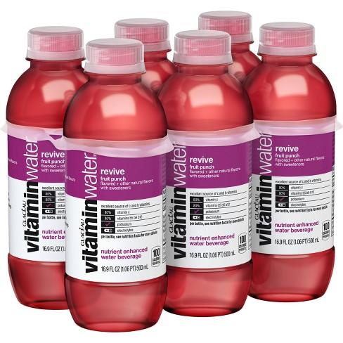 vitaminwater revive fruit punch - 6pk/16.9 fl oz Bottles - image 1 of 3