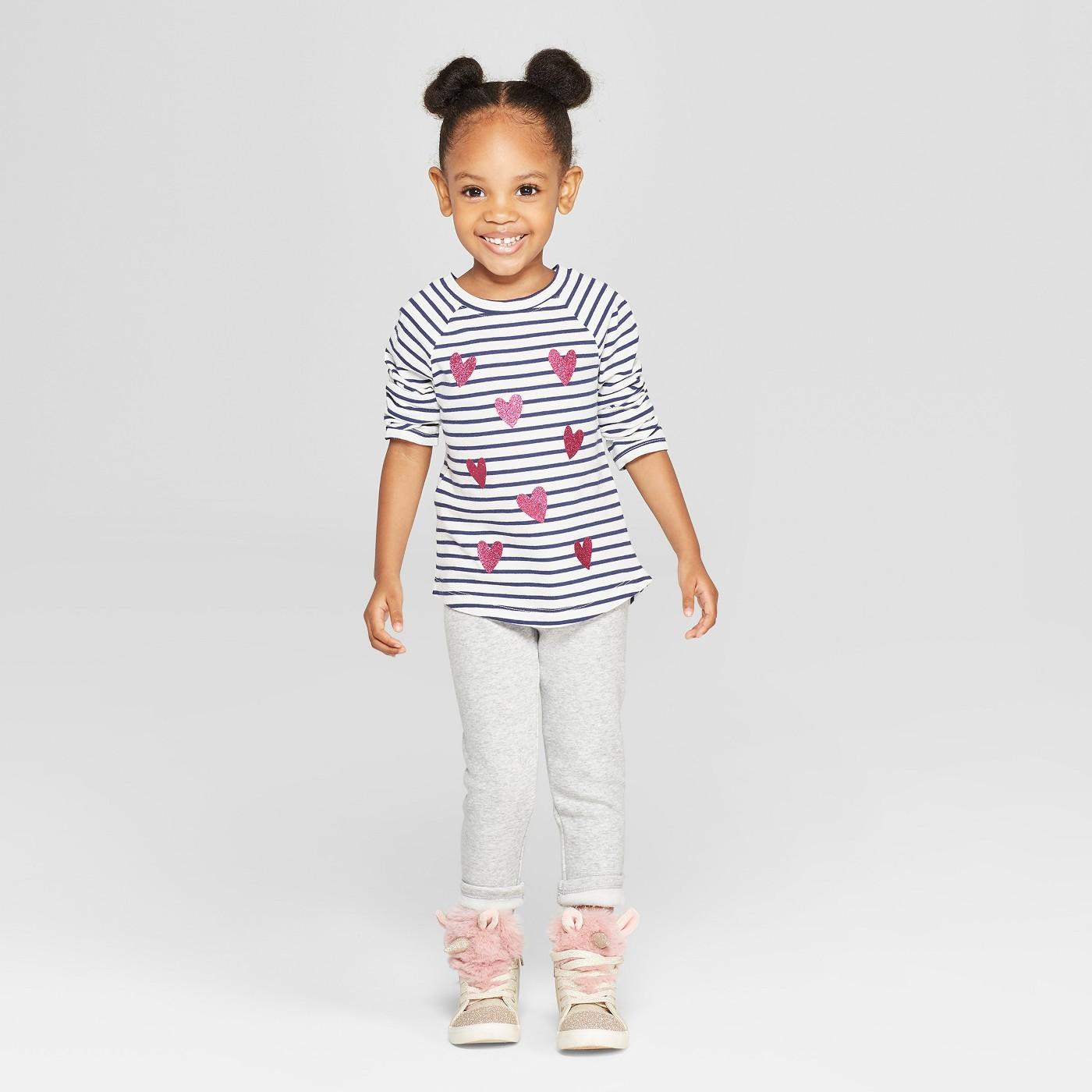 Toddler Girls' Cozy Leggings - Cat & Jack™ Heather Gray - image 3 of 3