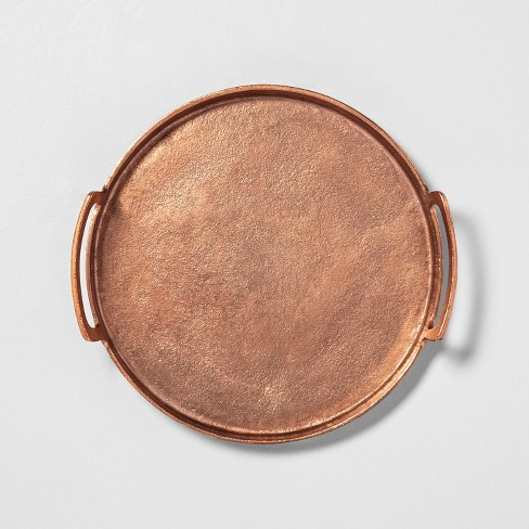 Antique Copper Finish Décor Tray - Hearth & Hand™ with Magnolia - image 1 of 3