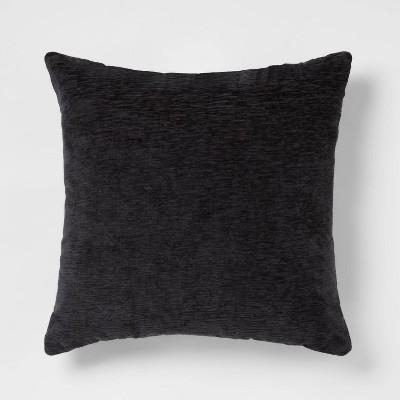 Oversize Chenille Square Throw Pillow Black - Threshold™