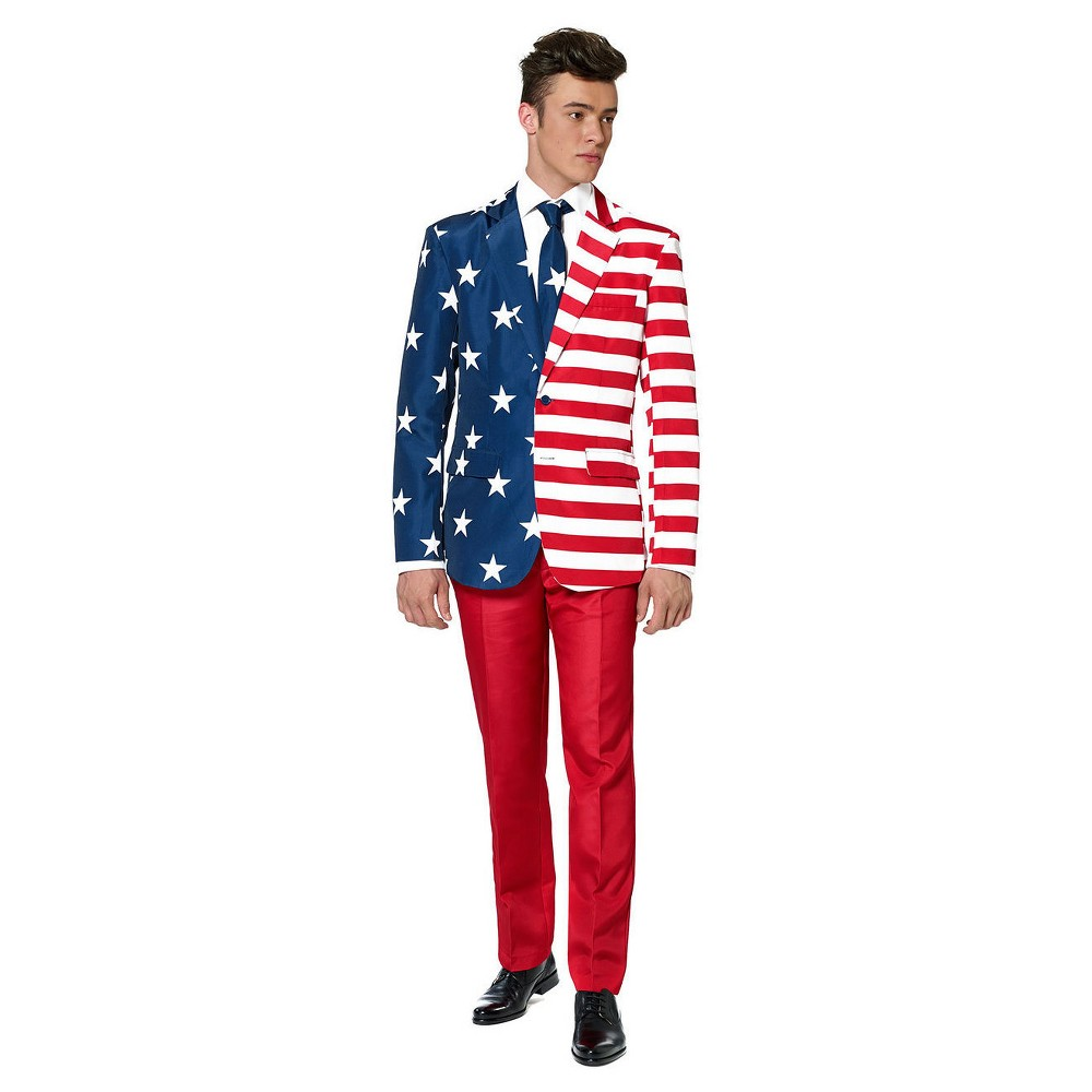 Image of Halloween USA Patriot Suit Costume XX-Large, Adult Unisex