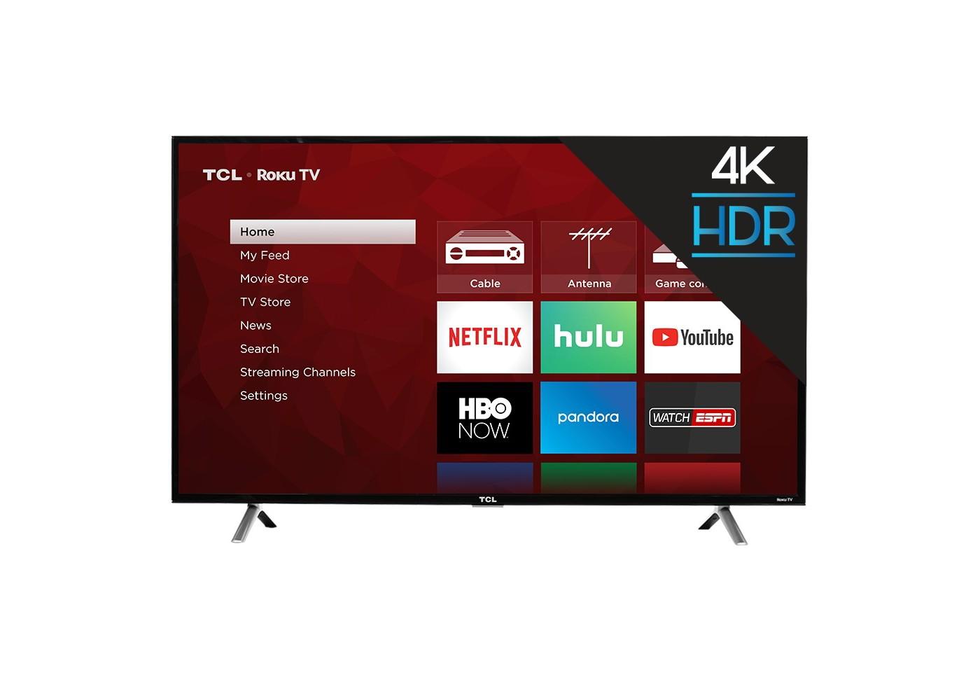 """TCL 49"""" 4K UHD HDR Roku Smart TV - image 1 of 16"""