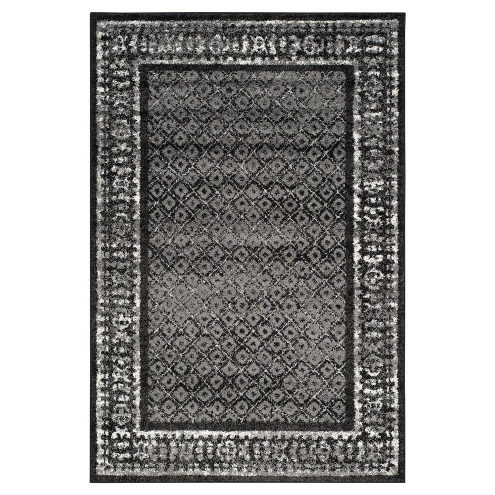 Remi Area Rug - Black/Silver (6'x9') - Safavieh