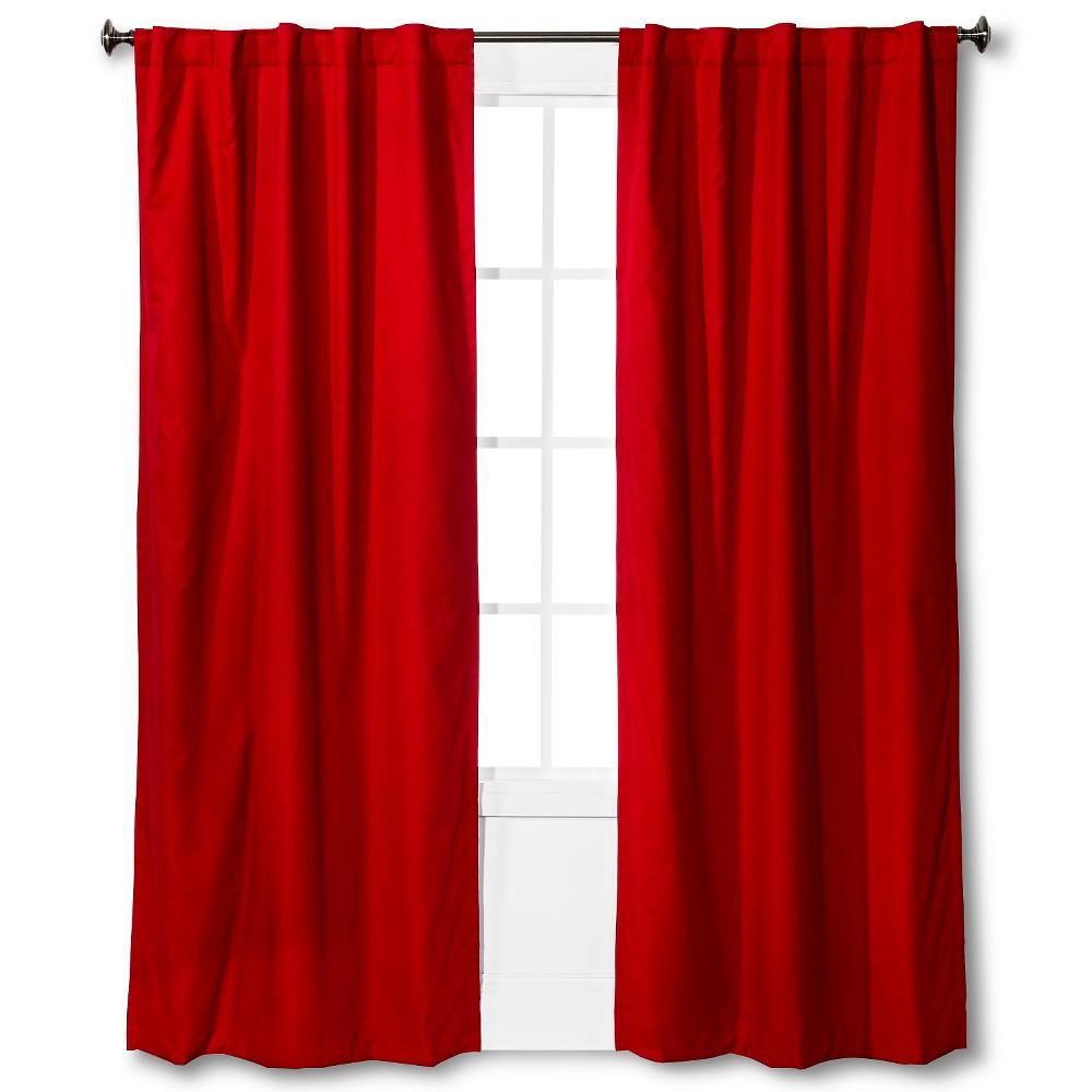 Twill Blackout Curtain Panel Red 42 X84 Pillowfort 8482