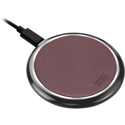 SIIG Premium Wireless Smartphone Charger Pad - Brown - 5 V DC, 9 V DC Input - Input connectors: USB