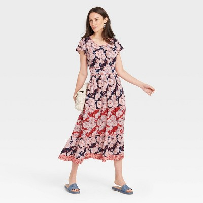 Women's Short Sleeve Shift Dress - Knox Rose™