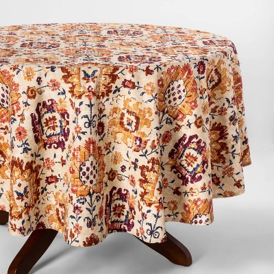 70  Jacobean Round Tablecloth Ginger - Threshold™
