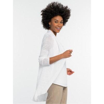NIC+ZOE Women's Lightweight Long Back of the Chair Cardigan