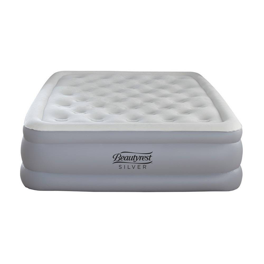 "Image of ""Simmons Beautyrest Silver EverFirm 18"""" Air Mattress with Built in Pump - Silver"""