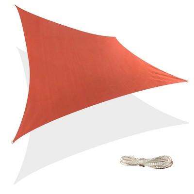 12' x 12' Square Sun Shade Sail - Terracotta Red - Backyard Expressions
