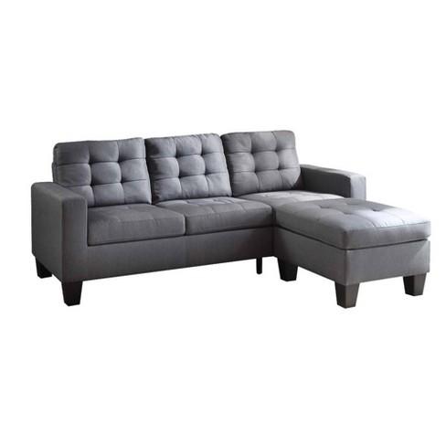 Sectional Sofa Gray - Benzara - image 1 of 4