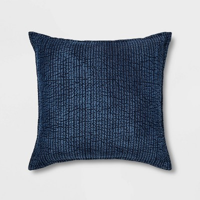 Square Quilted Solid Pillow Chambray - Threshold​​™