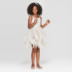 Girls' Sparkle Dress - Cat & Jack™ Champagne