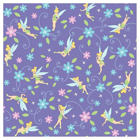 Tinkerbell Flowers Fabric - image 1 of 1