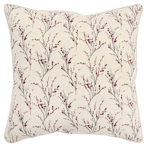 """20""""x20"""" Floral Polyester Filled Pillow - Rizzy Home - image 1 of 4"""
