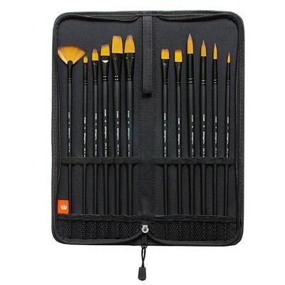 Kingart 12pc Fine Art Brush Set and Case