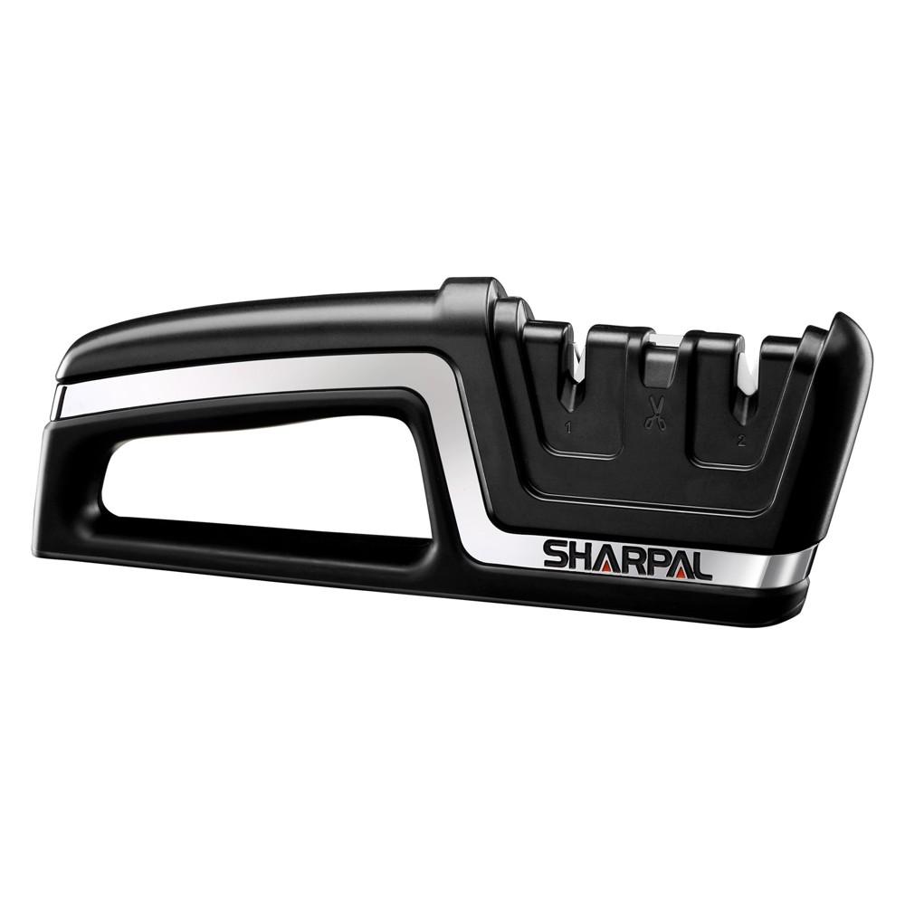 Sharpal Knife & Scissors Sharpener Black and Silver