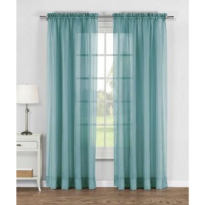 Kate Aurora Living Elegant Sheer Voile Rod Pocket Curtain Panel Pair