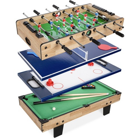 Best Choice Products 4-in-1 Multi Game Table, Childrens Arcade Set w/ Pool Billiards, Air Hockey, Foosball, Table Tennis - image 1 of 4
