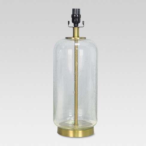 Bubble Glass with Brass Detail Large Lamp Base Clear - Threshold™ - image 1 of 1