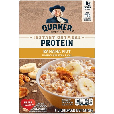 Quaker Instant Oatmeal Protein Banana Nut - 6ct