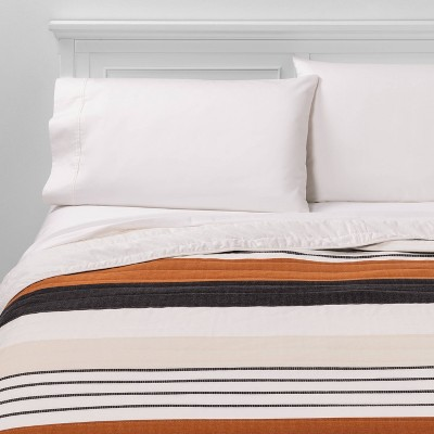 Full/Queen Woven Yarn Dye Stripe Quilt Cream - Project 62™ + Nate Berkus™