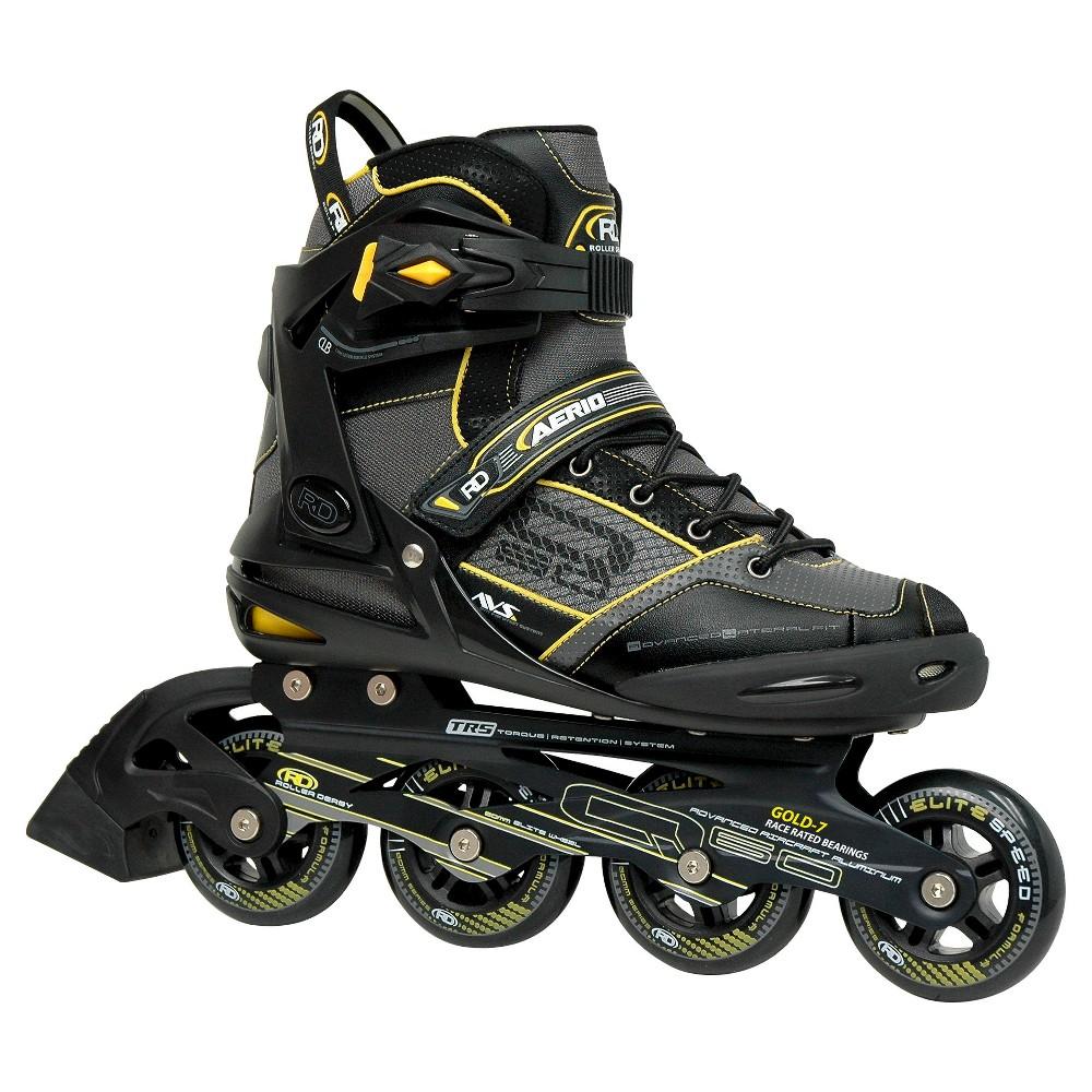 Roller Derby Men's Aerio Q-60 Inline Skates - Black/Yellow (6), Black Yellow