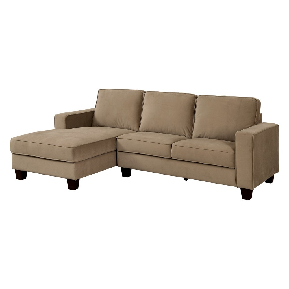 Iohomes Torian Transitional Flannelette Sectional Brown - Homes: Inside + Out