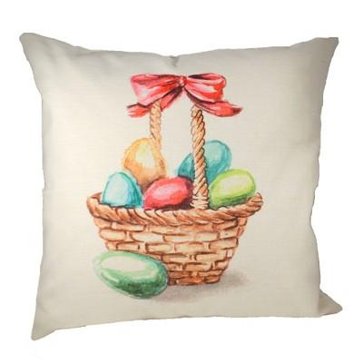 "Home Decor 20.0"" Easter Basket Cottage Pillow Whole Duck Feathers  -  Decorative Pillow"