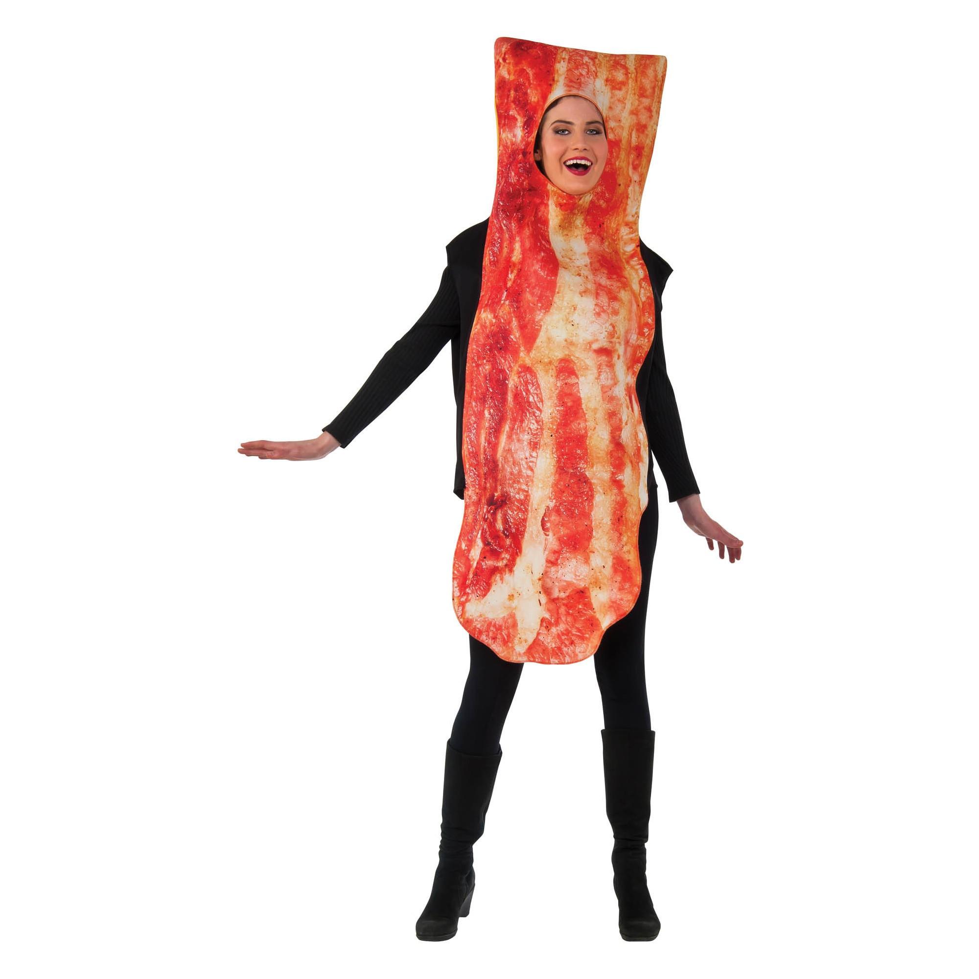 Adult Bacon Halloween Costume, Adult Unisex, Multi-Colored