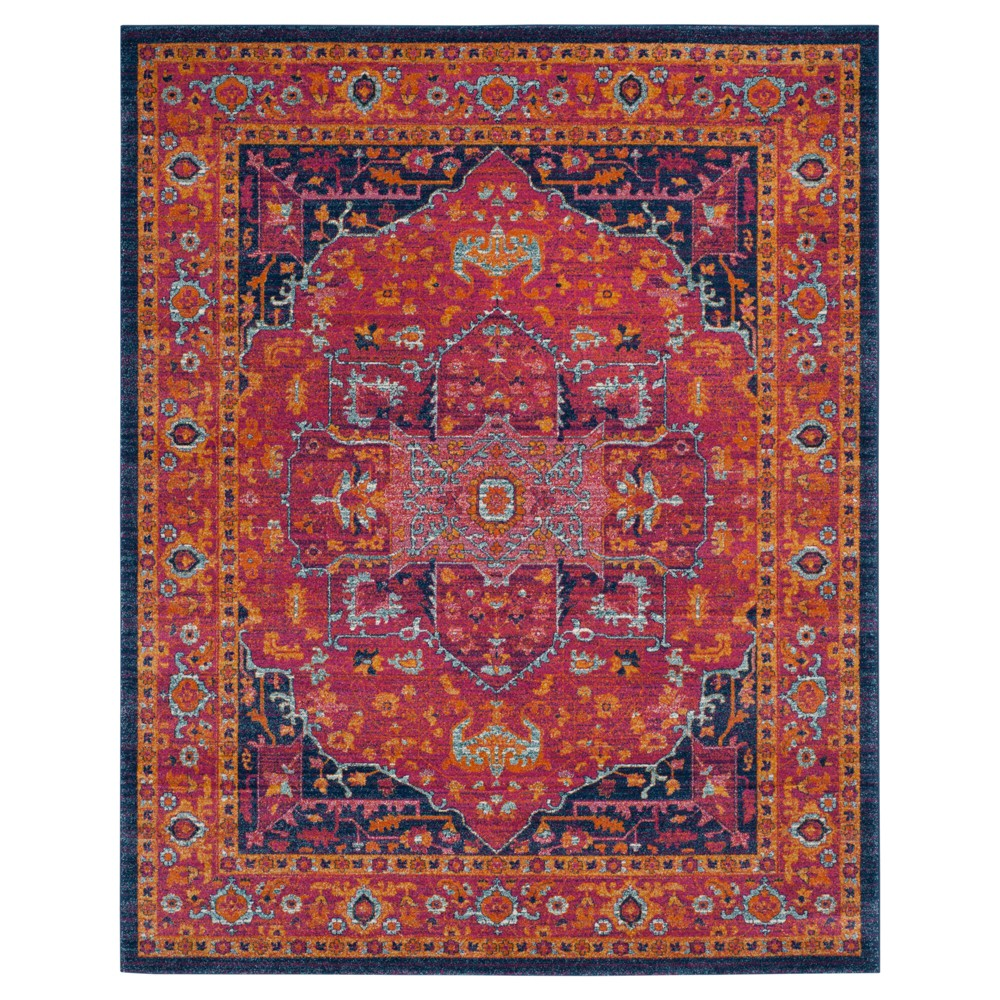 Red Shapes Loomed Area Rug 8'x10' - Safavieh