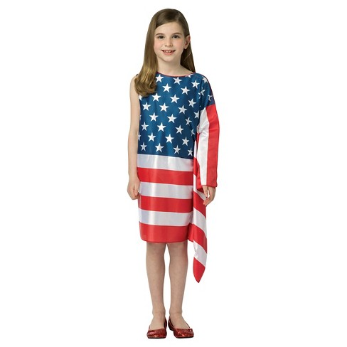 3cc796089ab Girls  USA Flag Dress Costume - Medium(8-10)   Target