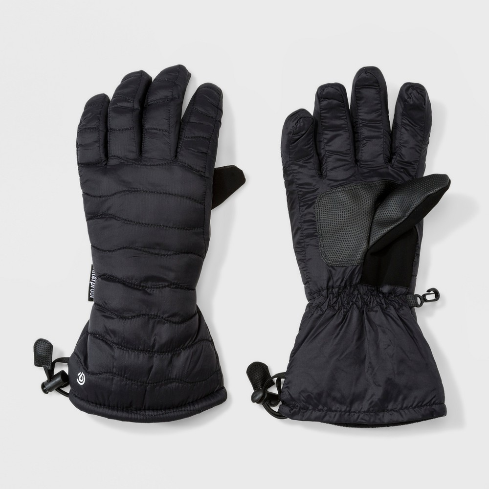 Women's Quilted Ski Gloves - C9 Champion Black S/M